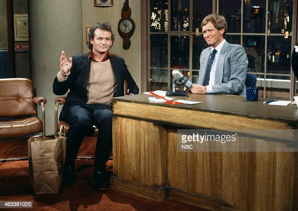 Actor Bill Murray during an interview with host David Letterman on May 31 1984