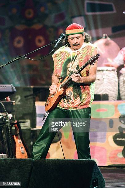 Musician Carlos Sanata of musical guest Santana performs on February 24 1994