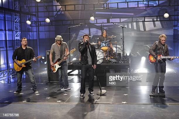 Musical guests 3 Doors Dowwn perform on July 19 2011 Photo by Paul Drinkwater/NBC/NBCU Photo Bank