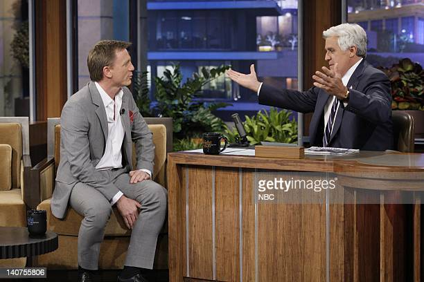 Actor Daniel Craig during an interview with host Jay Leno on July 19 2011 Photo by Paul Drinkwater/NBC/NBCU Photo Bank
