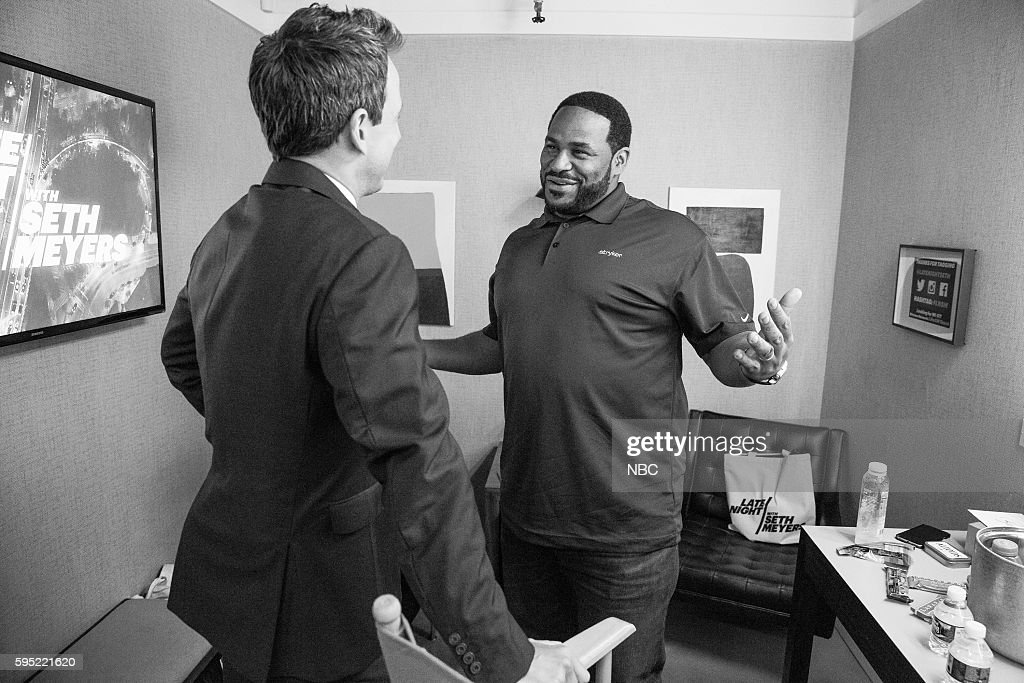 """NBC's """"Late Night With Seth Meyers"""" With Guests Robert De Niro, Jerome Bettis, Anthrax"""