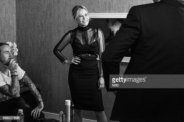 MEYERS Episode 409 Pictured Comedian Chelsea Handler backstage on August 25 2016