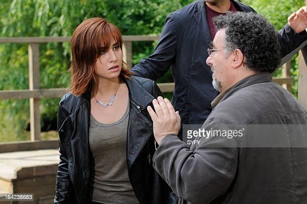 WAREHOUSE 13 Episode 410 We All Fall Down Pictured Allison Scagliotti as Claudia Donovan Saul Rubinek as Artie Nielsen