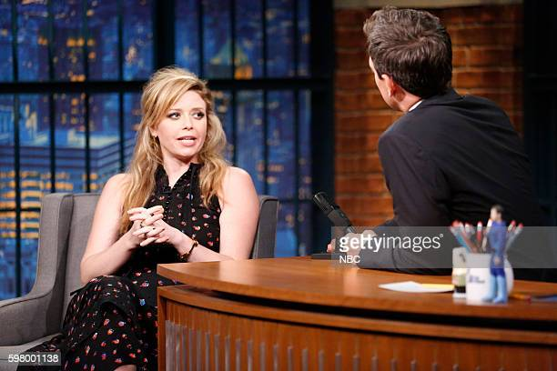 Actress Natasha Lyonne during an interview with host Seth Meyers on August 30 2016