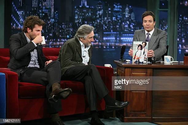 Bradley Cooper and Robert De Niro during an interview with Jimmy Fallon on March 18 2011