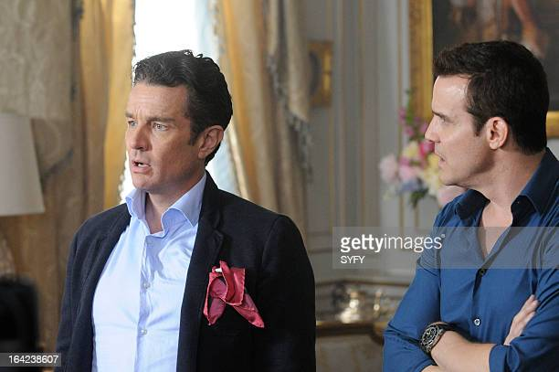 WAREHOUSE 13 Episode 411 'The Living and the Dead' Pictured James Marster as Prof Sutton Eddie McClintock as Pete Lattimer
