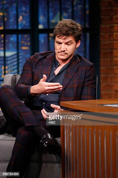 Actor Pedro Pascal during an interview on August 31 2016