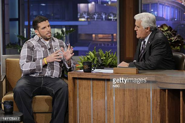 Personal trainer Drew Manning during an interview with host Jay Leno on October 27 2011 Photo by Paul Drinkwater/NBC/NBCU Photo Bank