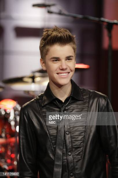 Musician Justin Bieber onstage October 31 2011 Photo by Paul Drinkwater/NBC/NBCU Photo Bank