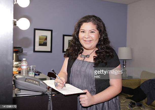 LENO Episode 4156 Pictured Actress Raini Rodriguez backstage on November 30 2011 Photo by Paul Drinkwater/NBC/NBCU Photo Bank