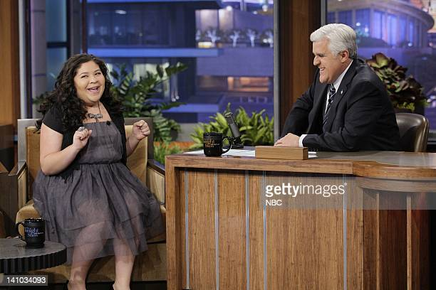 Actress Raini Rodriguez during an interview with host Jay Leno on November 30 2011 Photo by Paul Drinkwater/NBC/NBCU Photo Bank