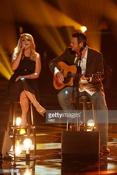 THE VOICE Episode 415B 'Live Show' Pictured Blake Shelton Miranda Lambert
