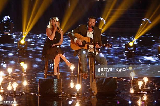 THE VOICE Episode 415B Live Show Pictured Blake Shelton Miranda Lambert