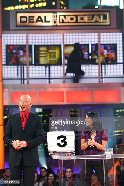 DEAL Episode 416 Airdate Pictured Host Howie Mandel Contestant Goretty Medeiros