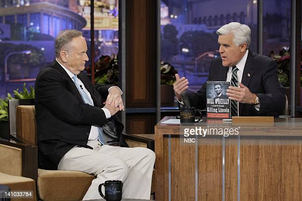 Episode 4163 -- Pictured: Political commentator Bill O'Reilly during an interview with host Jay Leno on December 9, 2011 -- Photo by: Paul...