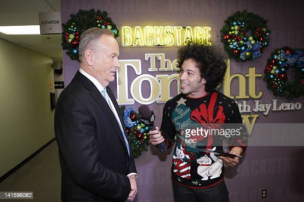 Episode 4163 -- Pictured: Political commentator Bill O'Reilly during an interview with Bryan Branly backstage on December 9, 2011 -- Photo by: Paul...