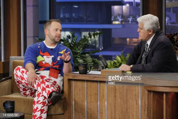 Ugly Christmas Sweater Party book author Adam Paulson during an interview with host Jay Leno on December 9 2011 Photo by Paul Drinkwater/NBC/NBCU...