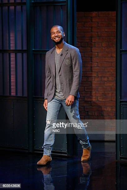 Actor Jussie Smollett arrives on September 12 2016
