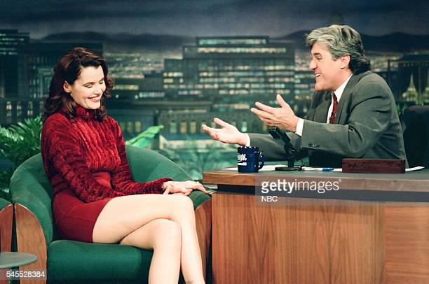 Actress Geena Davis during an interview with host Jay Leno on March 3 1994