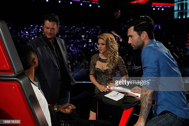 THE VOICE Episode 417A 'Live Show' Pictured Usher Blake Shelton Shakira Adam Levine