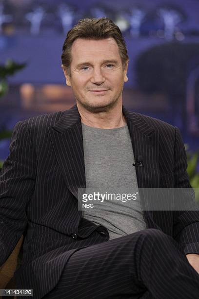 Actor Liam Neeson during an interview on January 11 2012 Photo by Paul Drinkwater/NBC/NBCU Photo Bank