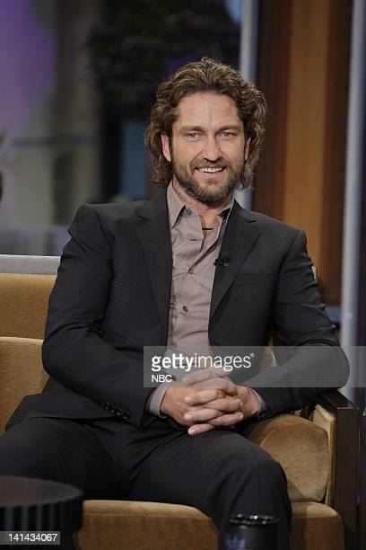 Actor Gerard Butler during an interview on January 12 2012 Photo by Paul Drinkwater/NBC/NBCU Photo Bank