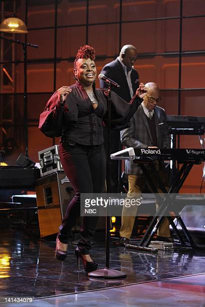 Musical guest Ledisi performs on January 12 2012 Photo by Paul Drinkwater/NBC/NBCU Photo Bank