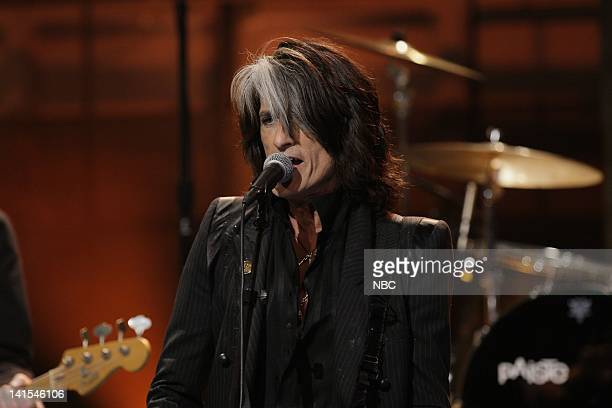 Episode 4187 -- Pictured: Musical guest Joe Perry performs on January 30, 2012 -- Photo by: Stacie McChesney/NBC/NBCU Photo Bank