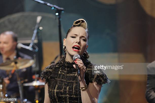 Musical guest Imelda May performs on January 31 2012 Photo by Stacie McChesney/NBC/NBCU Photo Bank