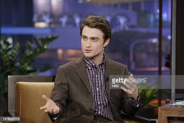 Actor Daniel Radcliffe during an interview on February 1 2012 Photo by Stacie McChesney/NBC/NBCU Photo Bank