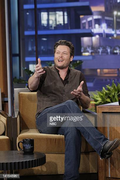 Country singer Blake Shelton during an interview on February 2 2012 Photo by Stacie McChesney/NBC/NBCU Photo Bank