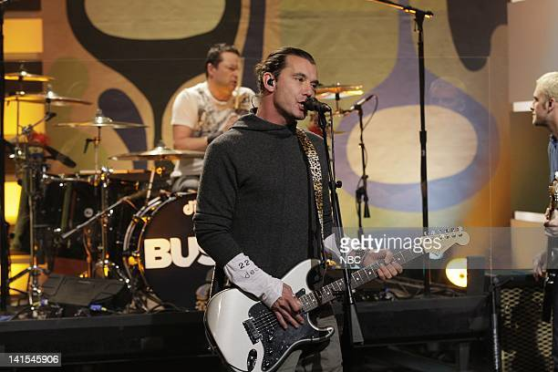 Gavin Rossdale of musical guest Bush performs on February 3 2012 Photo by Stacie McChesney/NBC/NBCU Photo Bank