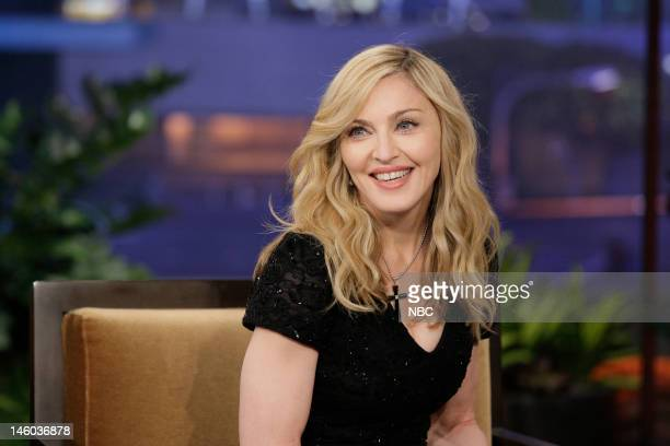 Singer Madonna during an interview on January 30 2012
