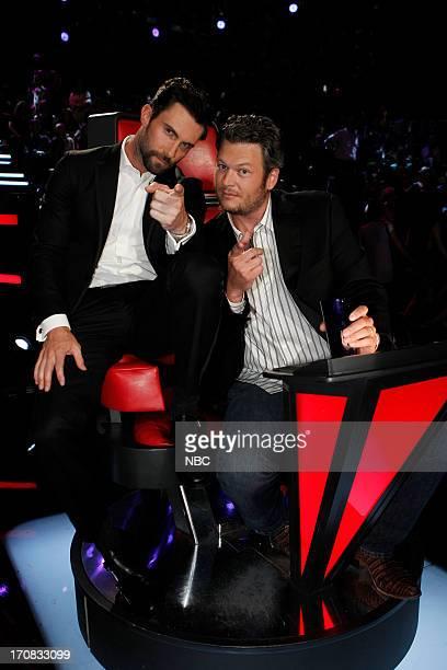 """Episode 419B """"Live Finale"""" -- Pictured: Adam Levine, Blake Shelton --"""