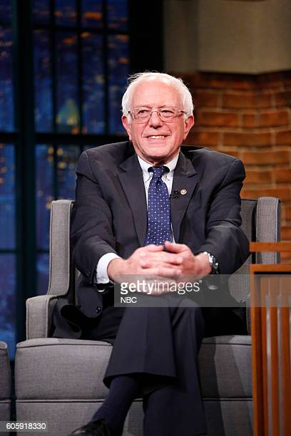 Senator Bernie Sanders during an interview on September 15 2016