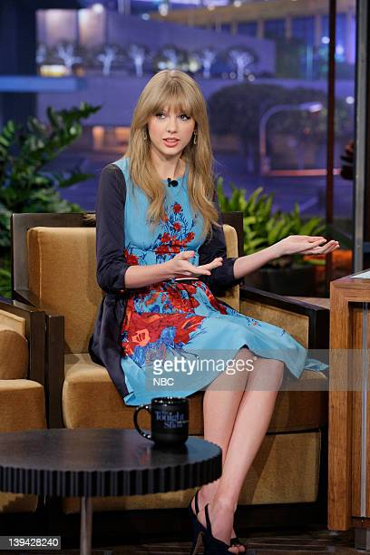 Singer Taylor Swift during an interview on February 20 2012