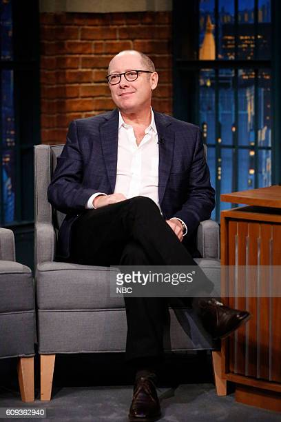 Actor James Spader during an interview on September 20 2016
