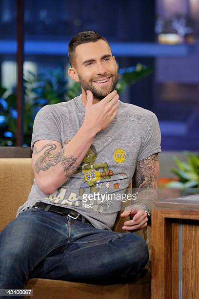 Singer Adam Levine during an interview on April 25 2012