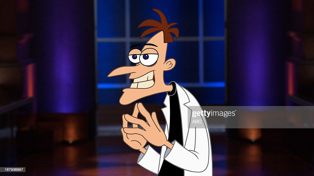 TANK - 'Episode 424' - In the first 'Shark Tank' Extra, a clip of the pitch from 'Phineas and Ferb's' nefarious Dr. Heinz Doofenshmirtz will air during the show. The evil scientist comes to the Tank with an opportunity for the Sharks to invest in his latest 'inator' invention. The full three-minute video can be seen beginning Friday, May 17 on ABC.com, You Tube, YouTube/ABC Network, Disney.com and YouTube/Disney.