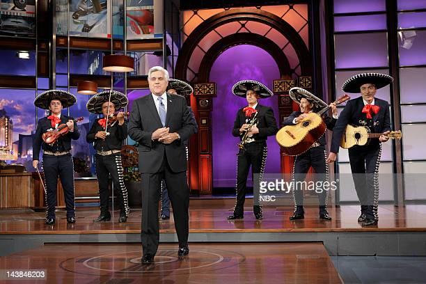 Host Jay Leno during Cinco de Leno segment on May 4 2012
