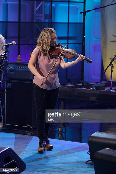 Episode 4250 -- Pictured: Musical guest Sara Watkins performs on May 10, 2012 --