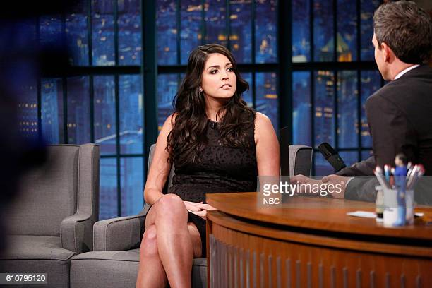 Actress Cecily Strong during an interview with host Seth Meyers on September 27 2016