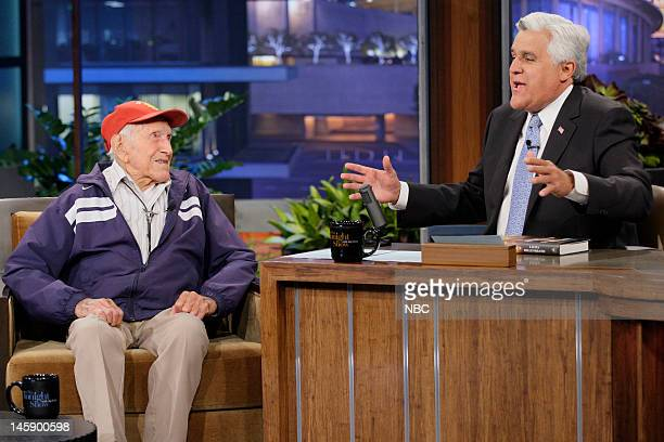 95 year old war hero Louis Zamperini during an interview with host Jay Leno on June 7 2012
