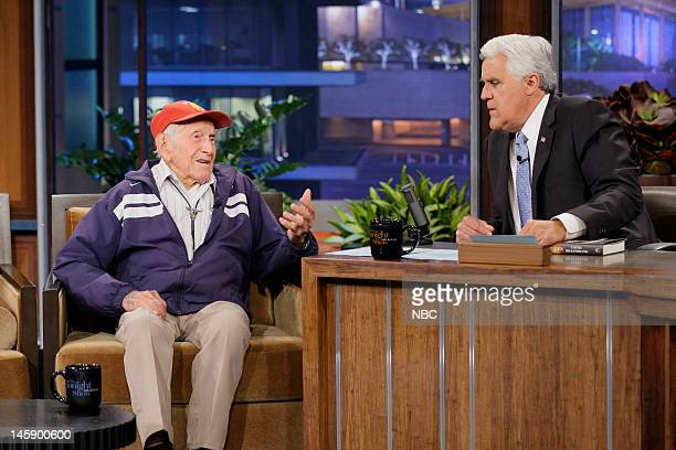 Episode 4265 -- Pictured: 95 year old war hero Louis Zamperini during an interview with host Jay Leno on June 7, 2012 --