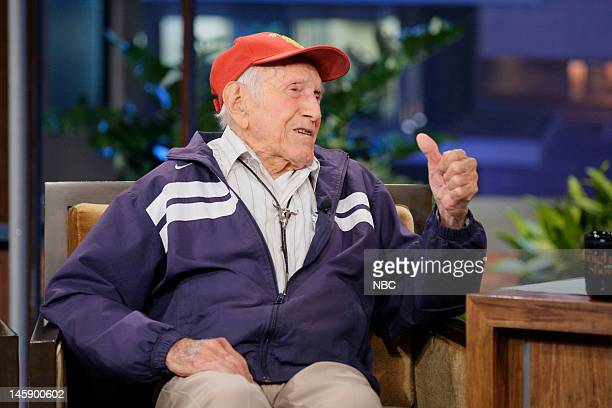Episode 4265 -- Pictured: 95 year old war hero Louis Zamperini during an interview on June 7, 2012 --