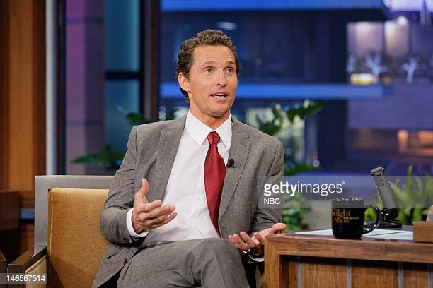 Actor Matthew McConaughey during an interview on June 19 2012