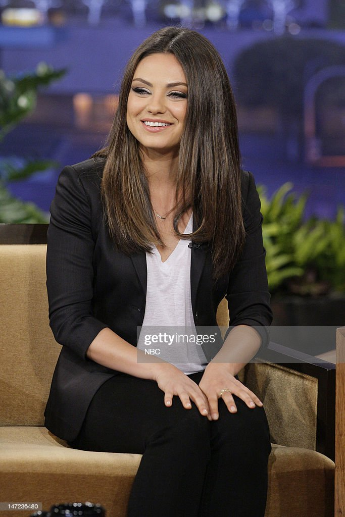 Actress Mila Kunis during an interview on June 27, 2012 --