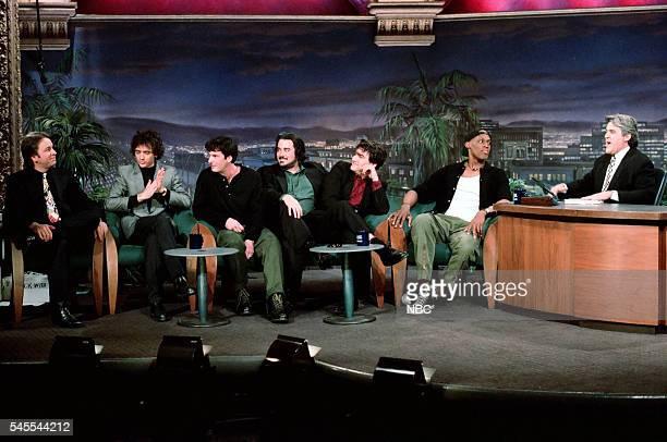 Actor John Ritter musicians Rick McCollum Patrick Keeler John Curley and Greg Dulli and professional basketball player Dennis Rodman during an...