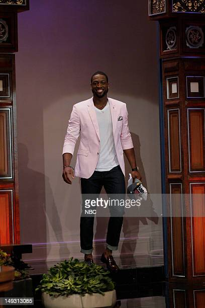 Miami Heat basketball player Dwyane Wade arrives on July 26 2012