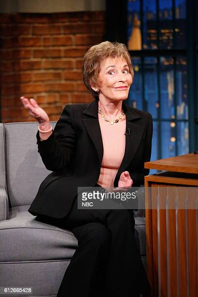 Judge Judy Sheindlin during an interview on October 4 2016